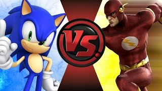 SONIC vs THE FLASH! REMATCH! Cartoon Fight Club Episode 114