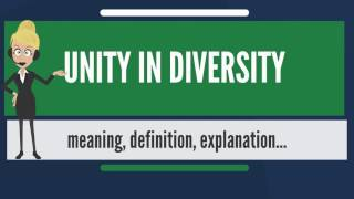 What is UNITY IN DIVERSITY? What does UNITY IN DIVERSITY mean? UNITY IN DIVERSITY meaning