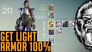 Destiny How to get Light Armor Fast 100% ; How to get Legendary Armor 100%