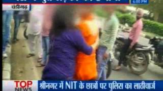 Drunk girl scooterist hungama in Chandigarh