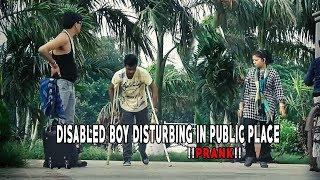 DISABLED BOY DISTURBING IN PUBLIC PLACE !!PRANK!!