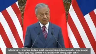Tun M: Perdagangan bebas bererti perdagangan adil