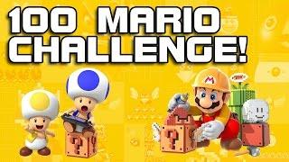 100 MARIO CHALLENGE! Super Mario Maker TOO EASY!