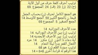 سر الاسرار و كنز الكنوز في القرآن حرف ( ن ) المقدس
