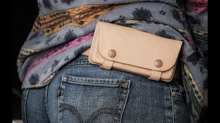 Bushcraft Fanny Pack?? Making A Wet Molded Leather Pouch
