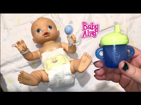 Baby Alive Wets n Wiggles Boy Doll Sherlock Drinks Blueberry Juice and tries Joovy Car Seat