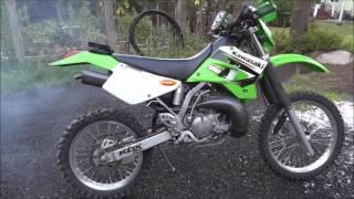 KDX200 Stock Exhaust Vs FMF