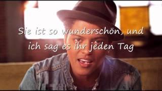 Bruno Mars Just the Way you are deutsche Übersetzung