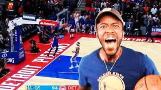JAVALE AND DRAYMOND'S HOMECOMING?! WARRIORS VS. PISTONS (HIGHLIGHT REACTION)