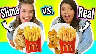 Making FOOD Out Of SLIME! Slime VS Food With Mackenzie Ziegler