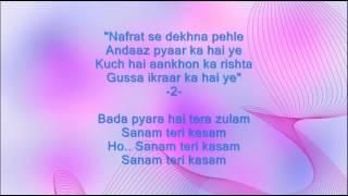 Kitne bhi tu karle sitam - Sanam Teri Kasam - Full Karaoke