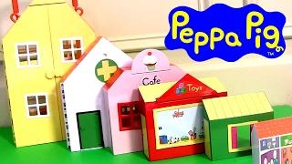 Playset O Mundo da Peppa Pig com 6 Casas TOYSBR Casa de Bonecas | Padaria | Clinica Medica