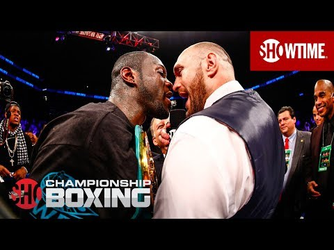Deontay Wilder and Tyson Fury Exchange Words   SHOWTIME CHAMPIONSHIP BOXING