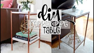 TESTING PINTEREST DIY COPPER PIPE MARBLE TABLE   EASY DIY