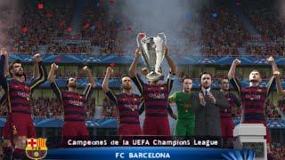PES 2016 (PS2) Champions League - Final!!! - Arsenal vs FC Barcelona