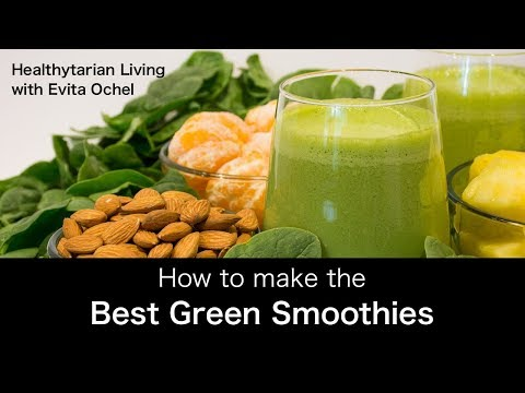 How to Make a Green Smoothie — 5 Step Template whole food vegan oil free