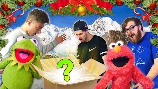 Surprising my Friends with an AMAZING Christmas Present! (Ft Kermit the Frog & Elmo)