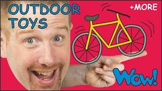Outdoor Toys Stories for Children from Steve and Maggie | Learn English with Stories Wow English TV