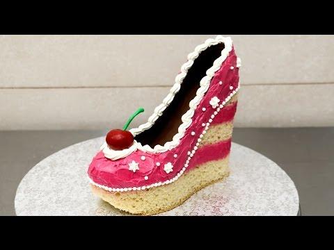 Shoe Cake Idea How To Make Torta Zapato by CakesStepbyStep