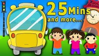 Wheels On The Bus (HD) Plus More Nursery Rhymes Collection   Popular Nursery Songs   Shemaroo Kids