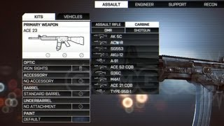 Battlefield 4 - Every Class, Every Weapon, Every Unlock