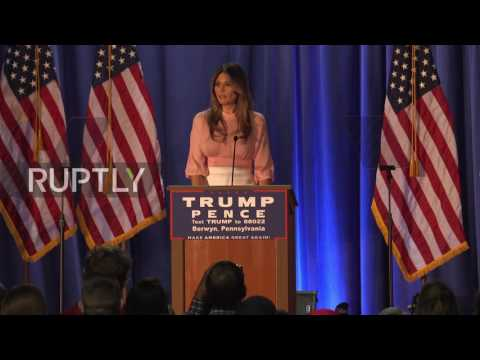 watch USA: 'I wanted to be an American' – Melania Trump delivers patriotic speech in Pennsylvania