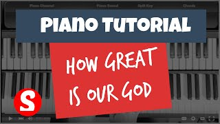 How Great Is Our God - Easy Piano Beginner Tutorial - Chris Tomlin