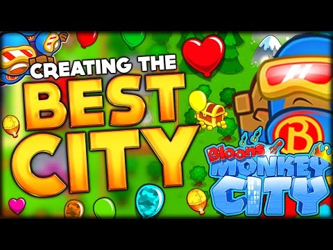 GETTING THE SUPER MONKEY AND BUILDING THE BEST TOWN IN BLOONS MONKEY CITY Bloons Monkey City 2