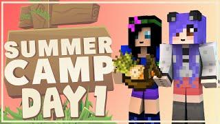 Minecraft | Summer Camp | Day 1: I MISSED MY BUS! | Mousie & Salem