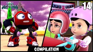 Vir: The Robot Boy & Rollbots   Compilation 14   Action show for kids   WowKidz Action