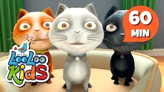 Three Little Kittens - Great Songs With Animals   LooLoo Kids