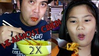 E25 Super Spicy Fire Noodle Challenge (ft. Uncle Mon) | Uriel TV