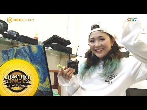 Hot girl Lê Na quyết tâm đánh bại mọi đối thủ để chiến thắng | Hậu trường Nhạc Hội Song Ca Mùa 2
