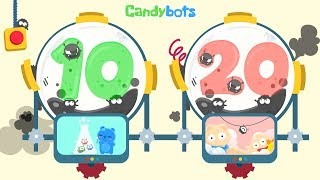 Candybots 123 Numbers - Learn counting 10 to 20 number - Education Apps for Kids