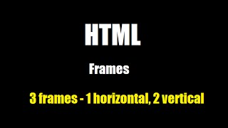 Frames: how to create three HTML frames (topbar, sidebar and content) - Tutorial 1
