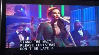 Kaycee Musgraves Christmas song on Seth Meyers 12-16