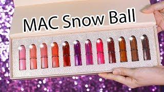 Swatch + Review son MAC Snow Ball Mini Lipstick Kit phiên bản đặc biệt MÙA GIÁNG SINH   Tiny Loly
