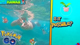 SNORKELING & PLAYING POKEMON GO! CAN YOU CATCH POKEMON UNDERWATER? + NEW EASTER UPDATE LEAK!