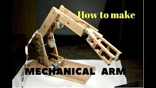 How to make a Robotic Arm | using  DC Motor | Robot Hand Gripper | (easy and simple)