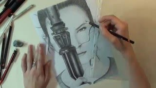 Drawing Rey: Star Wars the Force Awakens