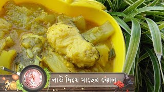 লাউ দিয়ে মাছের ঝোল //  Fish Curry With Gourd