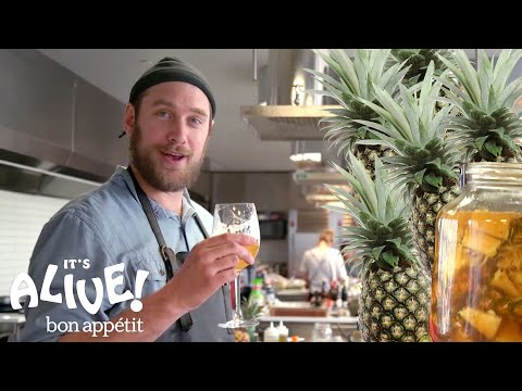Brad Makes a Fermented Mexican Pineapple Drink Tepache It s Alive Bon Appétit