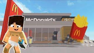 Şaşkın Bebek Minecraft McDonald'da #Çizgifilm Tadında Minecraft