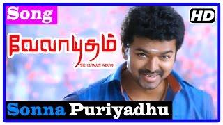 Velayudham Tamil Movie | Songs | Sonna Puriyadhu Song | Vijay leaves to Chennai | Hansika