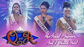 It's Showtime Miss Q & A Grand Finals: Miss Q & A Top 3 | The Final Answer