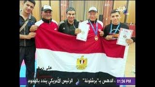 """صلاح عزازى """"بطل العالم فى الكيك بوكسينج """" :«حققت حلمى برفع علم مصر»"""