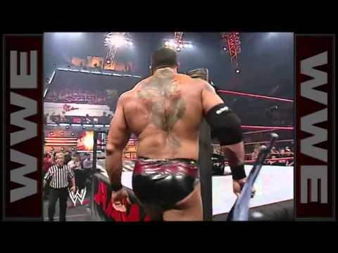Wwe batista breaks Goldberg Ankle (Full HD)