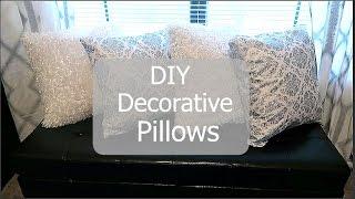 Diy: Decorative Pillows|| Pillow Case