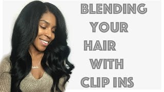 Blending your hair with Clip ins + Knappy Hair Extensions