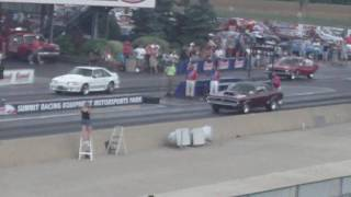 drag boss 69 cleveland powered cougar beats white fox stang.mp4